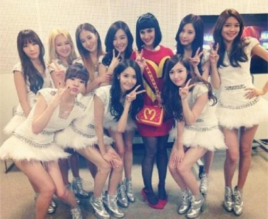 Girls Generation with Katy Perry